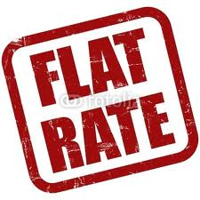 Flat rate red
