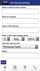 Simple receipt management system